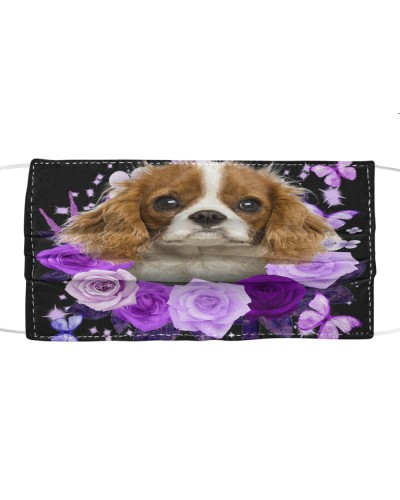 Cavalier King Charles Spaniel-Face Mask-Purple