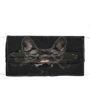 French Bulldog-02-Hole Crack Cloth face mask front