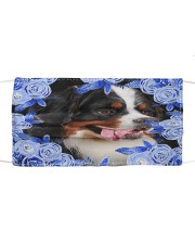 Bernese Mountain-Blue Mask Cloth face mask front