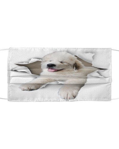Great Pyrenees-Face Mask-Torn02