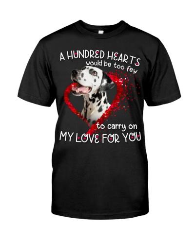 Dalmatian-Hundred Hearts
