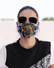 German Shepherd-Blue Mask Cloth face mask aos-face-mask-lifestyle-02