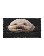 Goldendoodle-Hole Crack Cloth face mask front