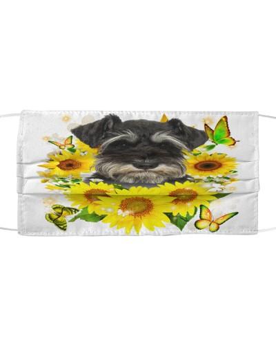 Miniature Schnauzer-Face Mask-Sunflower