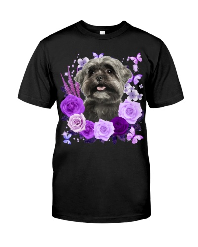 Shih Tzu-Purple Flower