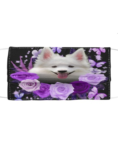 American Eskimo-Face Mask-Purple