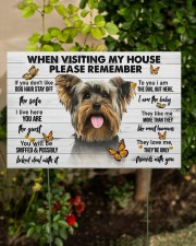 Yorkshire Terrier-Please 18x12 Yard Sign aos-yard-sign-18x12-lifestyle-front-06