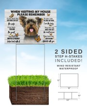 Yorkshire Terrier-Please 18x12 Yard Sign aos-yard-sign-18x12-lifestyle-front-26