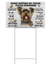 Yorkshire Terrier-Please 18x12 Yard Sign front