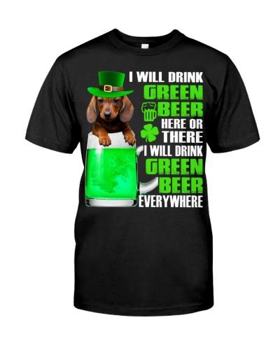 Dachshund-Green Beer