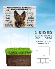 German Shepherd-Please 18x12 Yard Sign aos-yard-sign-18x12-lifestyle-front-26
