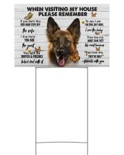 German Shepherd-Please 18x12 Yard Sign front