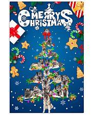 Norwegian Elkhound-Merry Christmas 24x36 Poster front