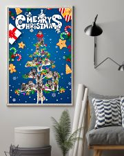 Norwegian Elkhound-Merry Christmas 24x36 Poster lifestyle-poster-1