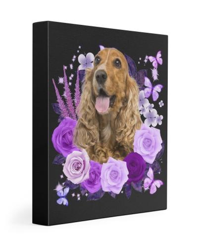 English Cocker Spaniel-02-Canvas Purple