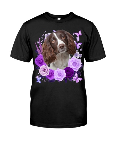 English Springer Spaniel-Purple Flower