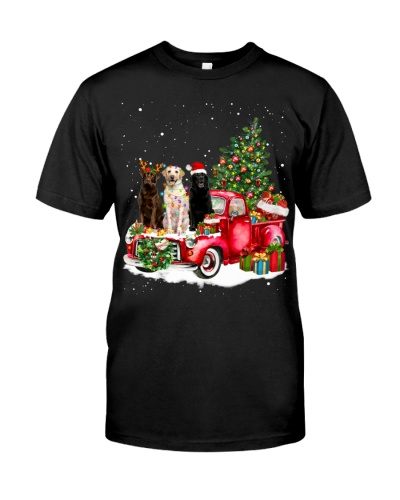 Labrador Retriever-Christmas Car