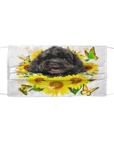 Cockapoo-Face Mask-Sunflower