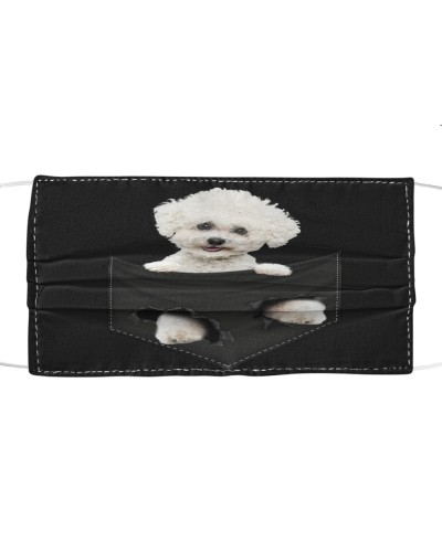 Bichon Frise-Face Mask-Pocket