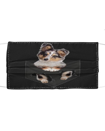Shetland Sheepdog-Face Mask-Pocket