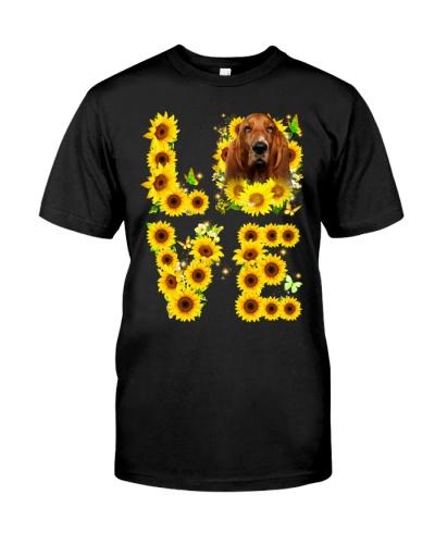 Basset Hound-Love Sunflower