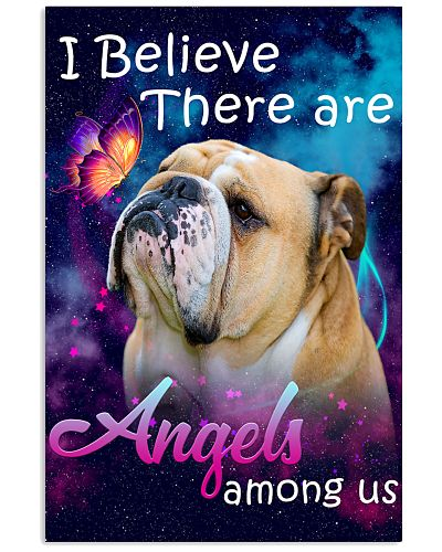 English Bulldog-02-Angels-Poster