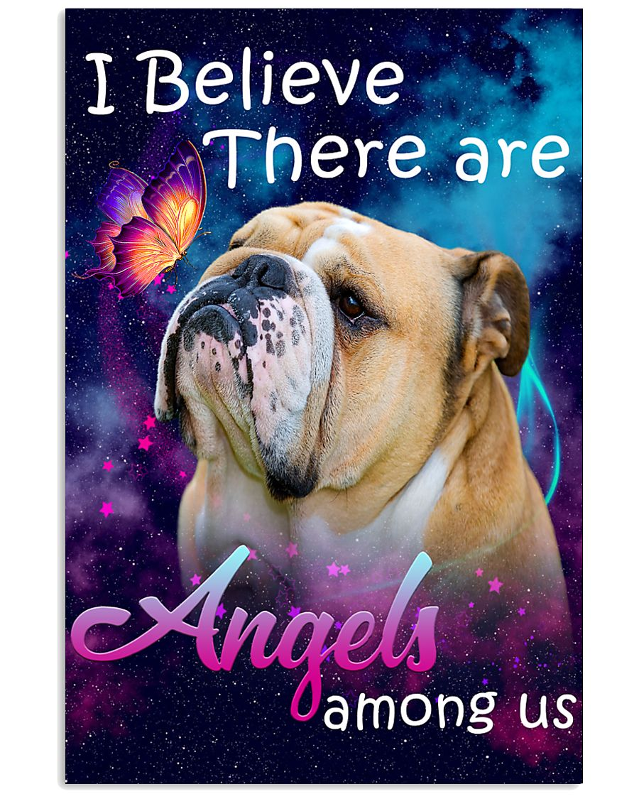 English Bulldog-02-Angels-Poster 11x17 Poster