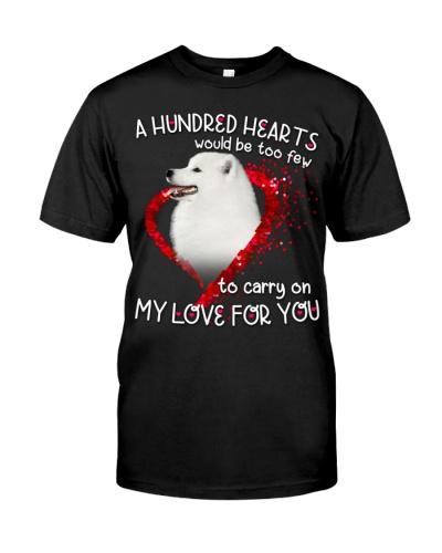 Samoyed-Hundred Hearts