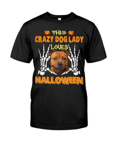 Staffordshire Bull Terrier-Loves Halloween