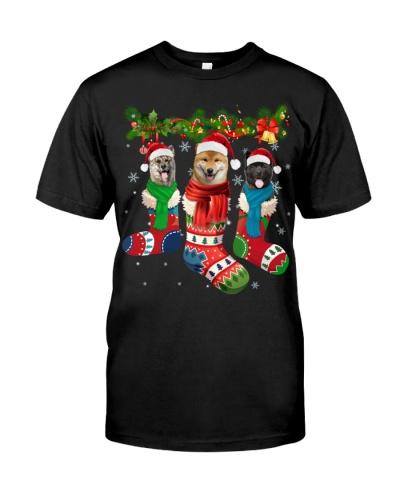 Akita-Christmas Sock
