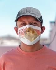 Pomeranian-My Life-Mask Cloth face mask aos-face-mask-lifestyle-06