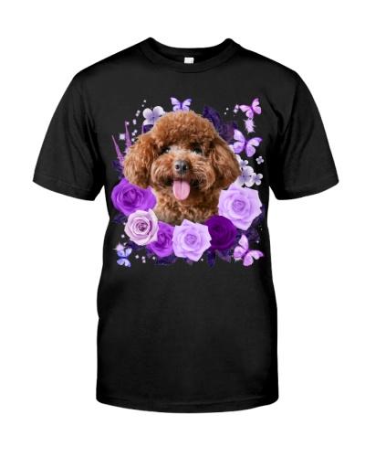Poodle-Purple Flower