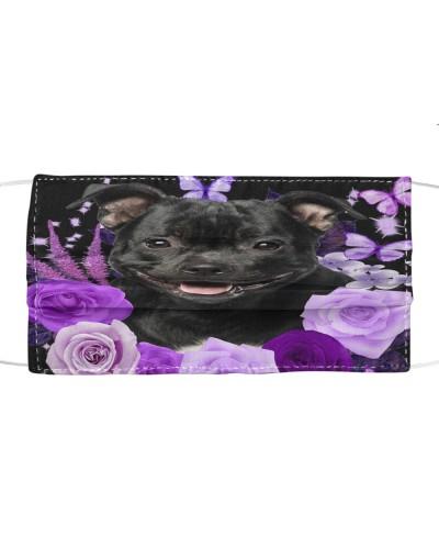 Staffordshire Bull Terrier-Face Mask-Purple