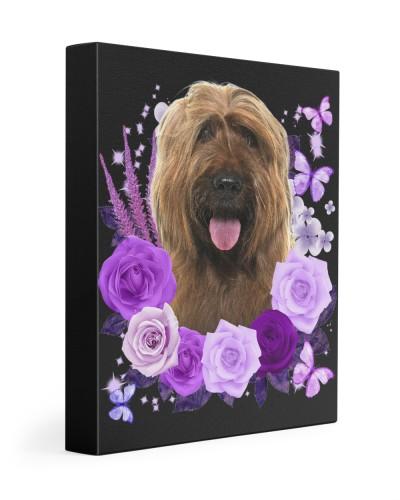 Briard-Canvas Purple