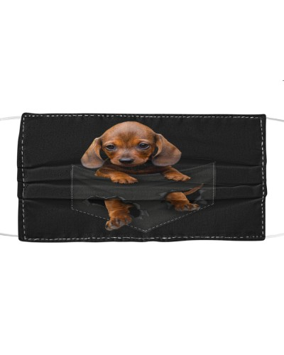 Dachshund 02-Face Mask-Pocket