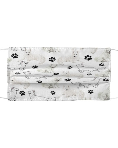 Berger Blanc Suisse-Face Mask-Paw