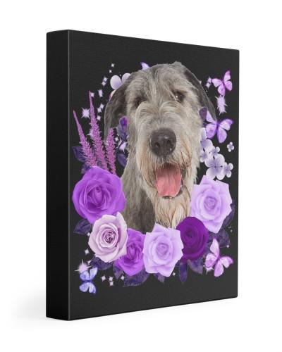 Irish Wolfhound-Canvas Purple