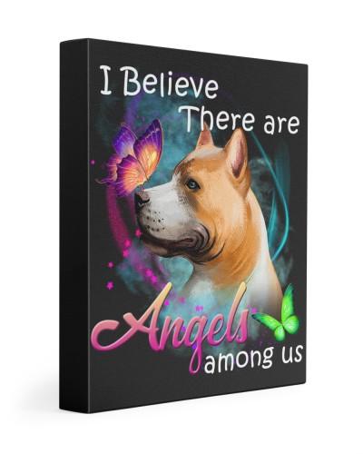 American Pitbull Terrier-Art-Canvas Angels