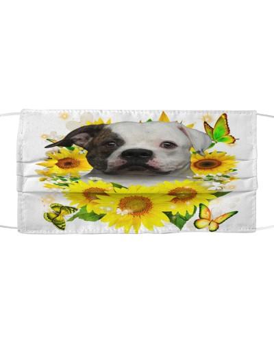 American Bulldog-Face Mask-Sunflower