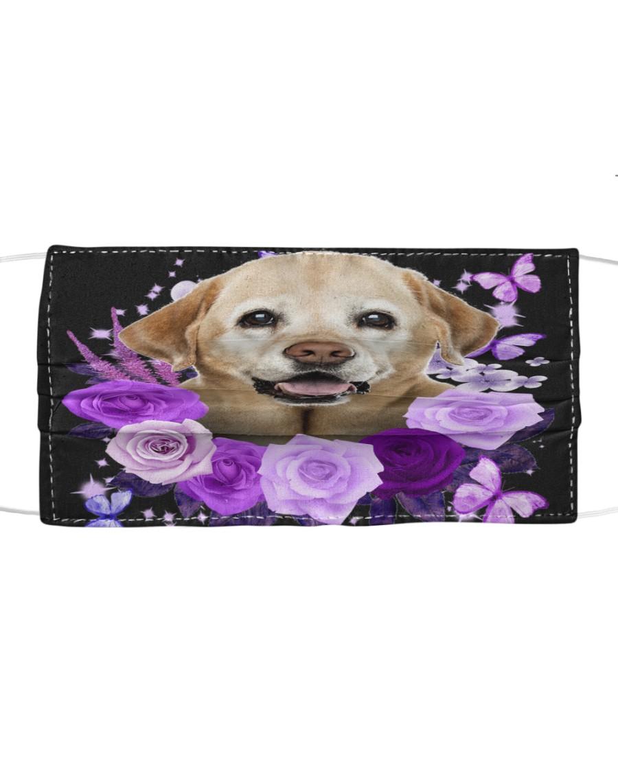 Labrador-Yellow-Face Mask-Purple Cloth face mask
