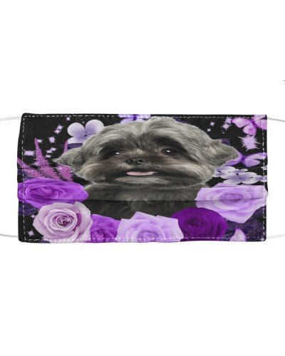Shih Tzu-Face Mask-Purple