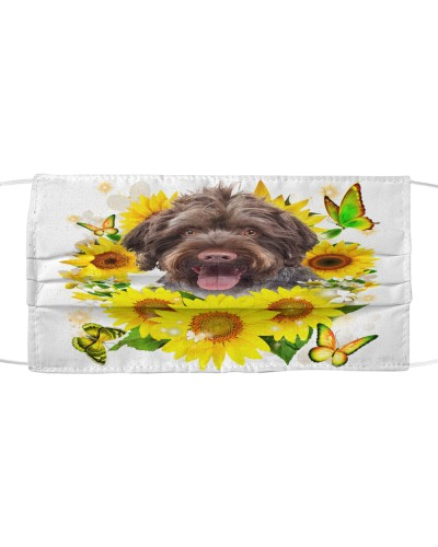German Wirehaired Pointer-Face Mask-Sunflower