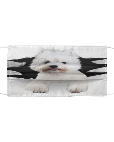 West Highland White Terrier-Face Mask-Torn03