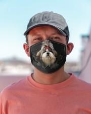 Shih Tzu-Hole Crack Cloth face mask aos-face-mask-lifestyle-06