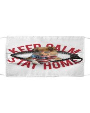 Rough Collie-US-Keep Calm Cloth face mask front