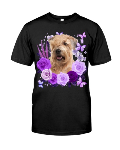 Soft Coated Wheaten Terrier-Purple Flower