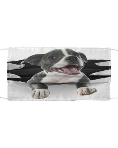 American Pit Bull Terrier-Face Mask-Torn03
