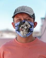 English Setter-Blue Mask Cloth face mask aos-face-mask-lifestyle-06