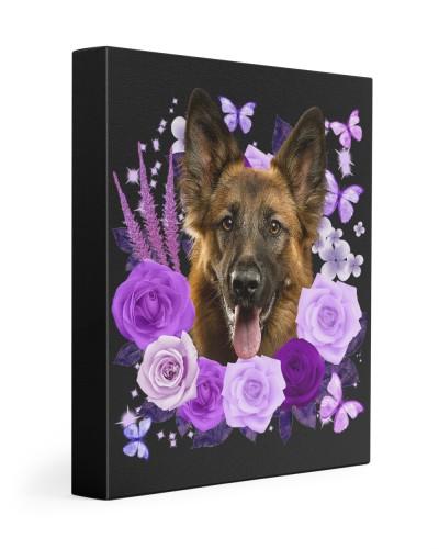 German Shepherd-Canvas Purple