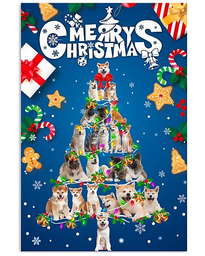 Akita-Merry Christmas